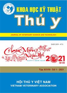 Tạp chí Khoa học kỹ thuật Thú y XXVIII số 1 - 2021