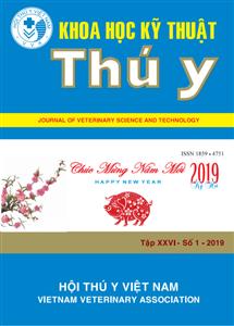 Tạp chí Khoa học kỹ thuật Thú y XXVI số 1 - 2019