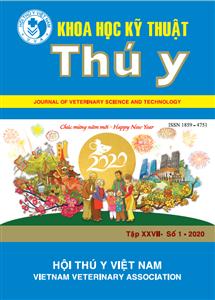 Tạp chí Khoa học kỹ thuật Thú y XXVII số 1 - 2020