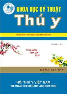 Tạp chí Khoa học kỹ thuật Thú y XXV số 1 - 2018