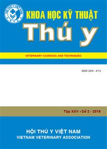 Tạp chí Khoa học kỹ thuật Thú y XXV số 2 - 2018