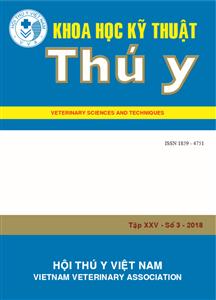 Tạp chí Khoa học kỹ thuật Thú y XXV số 3 - 2018