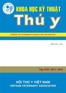 Tạp chí Khoa học kỹ thuật Thú y XXVI số 5 - 2019