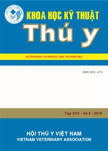 Tạp chí Khoa học kỹ thuật Thú y XXV số 5 - 2018