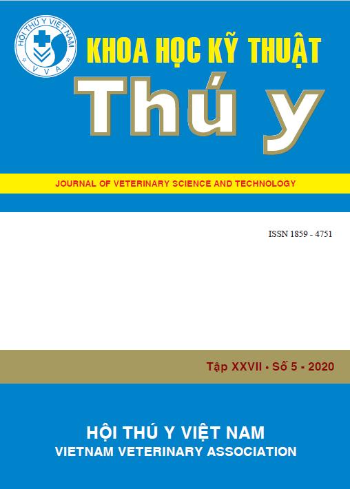Tạp chí Khoa học kỹ thuật Thú y XXVII số 5 - 2020