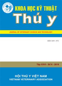 Tạp chí Khoa học kỹ thuật Thú y XXVI số 6 - 2019