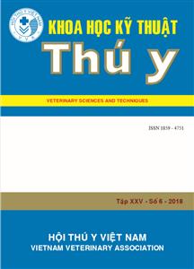 Tạp chí Khoa học kỹ thuật Thú y XXV số 6 - 2018
