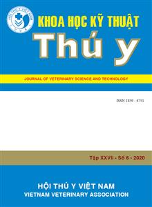 Tạp chí Khoa học kỹ thuật Thú y XXVII số 6 - 2020