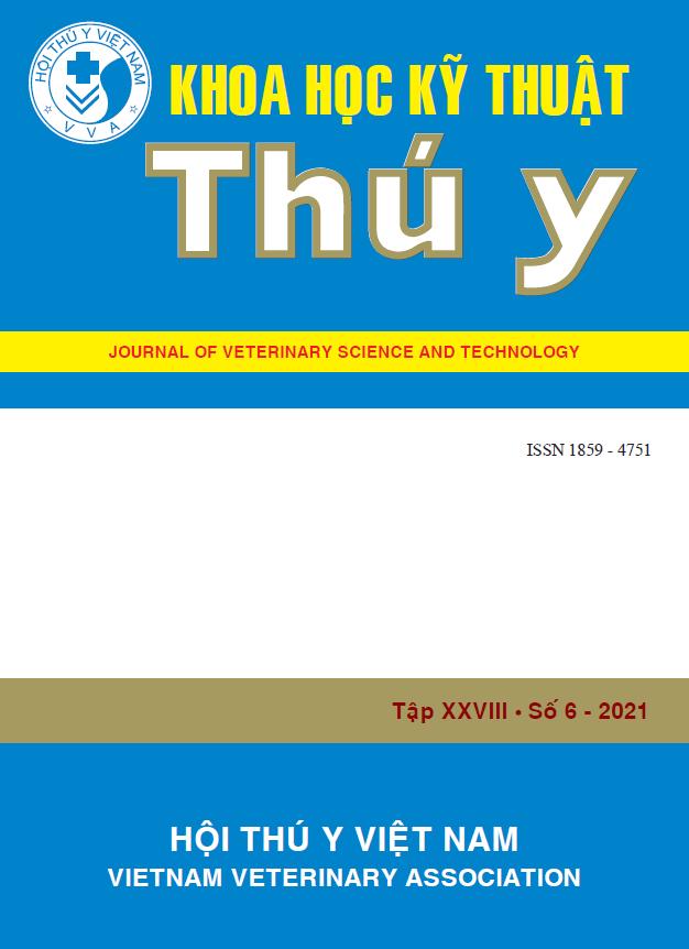 Tạp chí Khoa học kỹ thuật Thú y XXVIII số 6 - 2021