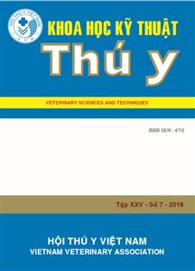 Tạp chí Khoa học kỹ thuật Thú y XXV số 7 - 2018