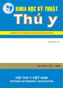 Tạp chí Khoa học kỹ thuật Thú y XXVII số 7 - 2020