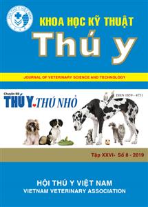 Tạp chí Khoa học kỹ thuật Thú y XXVI số 8 - 2019