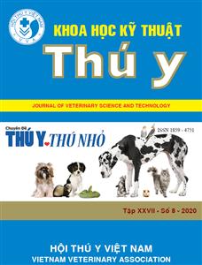 Tạp chí Khoa học kỹ thuật Thú y XXVII số 8 - 2020